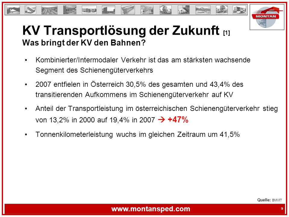KV Transportlösung der Zukunft [1] Was bringt der KV den Bahnen